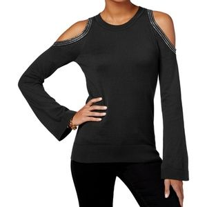 Michael Kors Bell-Sleeve Cold-Shoulder Sweater